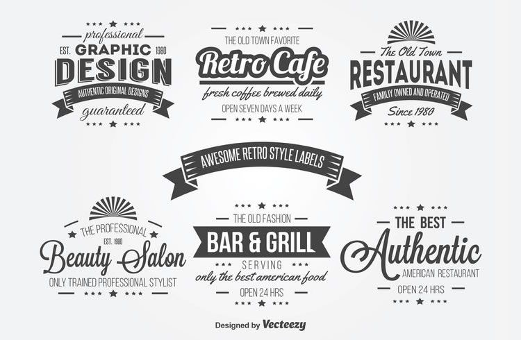 15 free vintage logo  u0026 badge template collections