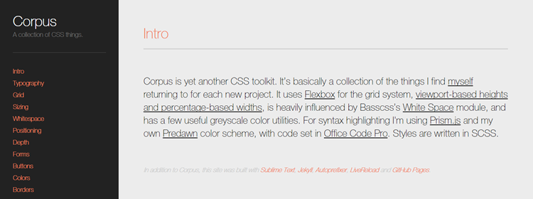 Corpus collection of CSS things