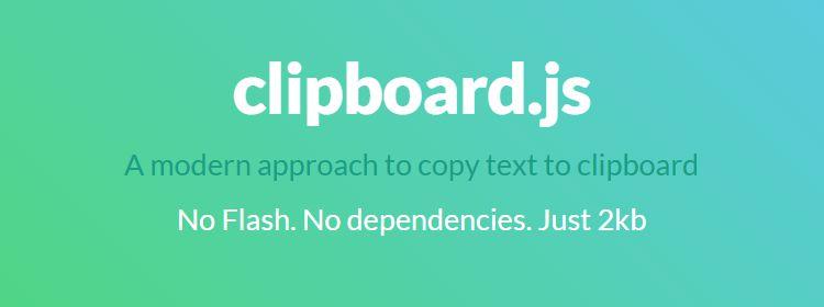 clipboard.js Modern approach copy text clipboard