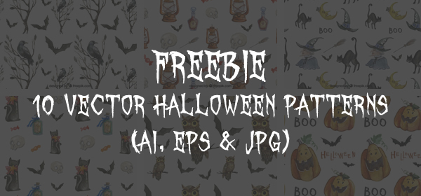 10 free vector Halloween patterns
