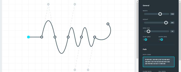 Build SVG path quickly app GUI