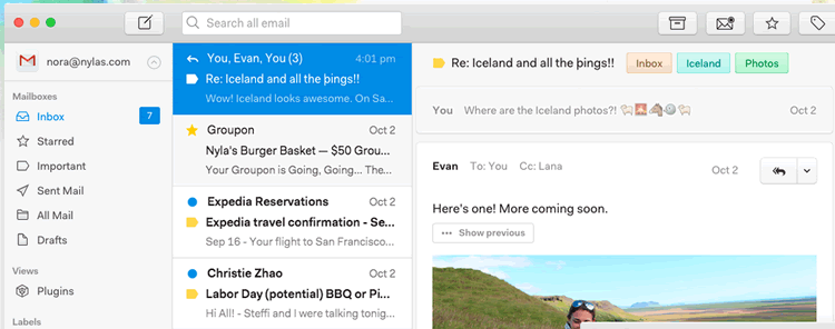 N1 extensible open source email client
