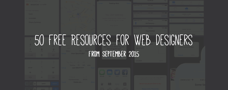 50 Free Resources for Web Designers from September 2015