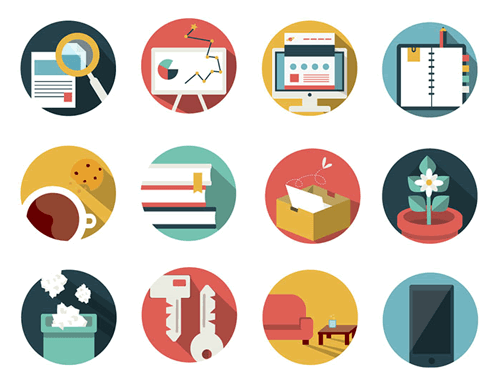Office Business Icon Pack 92 Icons AI EPS PSD PDF PNG SVG
