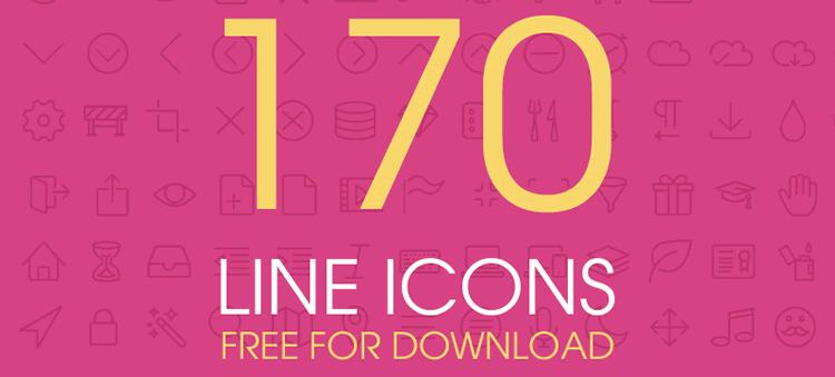 Line Icons 170 PSD EPS AI