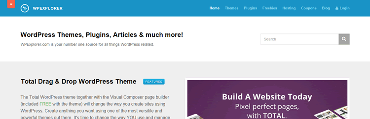 screenshot of wpexplorer wordpress theme