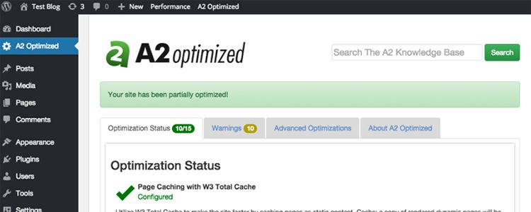 A2 Optimized WP plugin