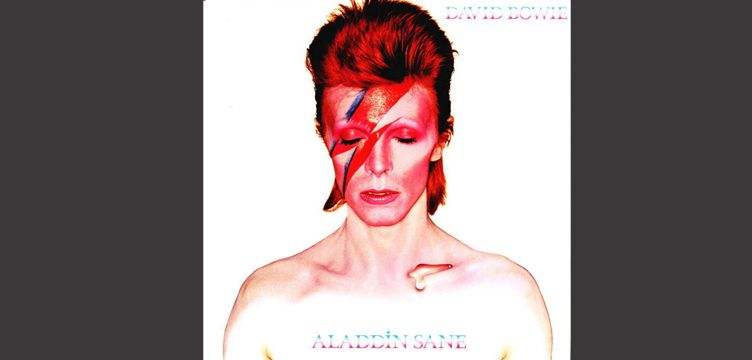 Aladdin Sane album cover art David Bowie