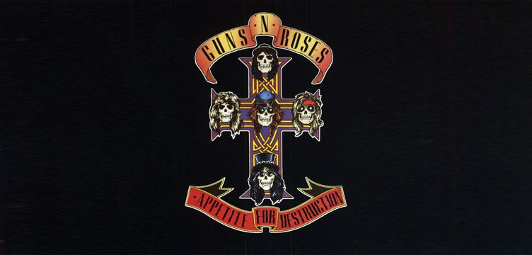Guns Roses Appetite for Destruction album cover art