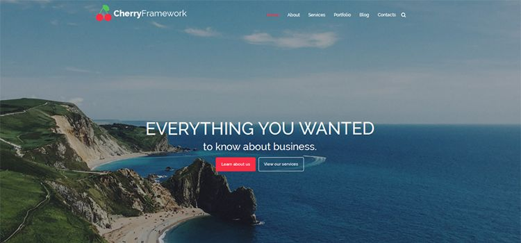 Cherry Framework Free WordPress Theme