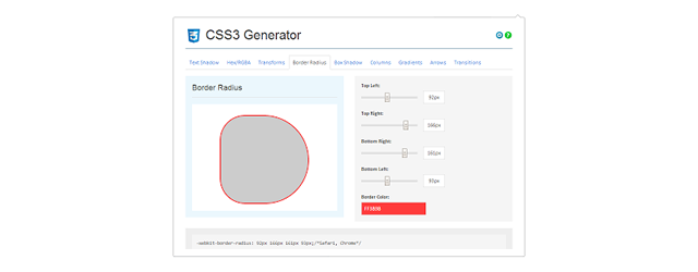 CSS3 Generator chrome extension web designer