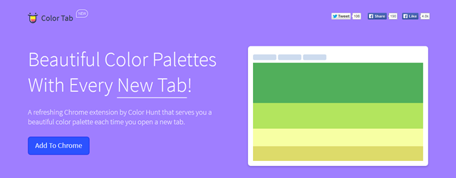 Color Tab chrome extension web designer