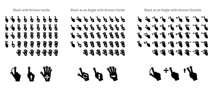 Gesty gesture icon set mobile app development designer