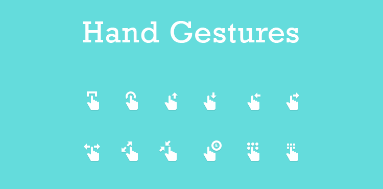 Hand Gesture Icons mobile app development designer