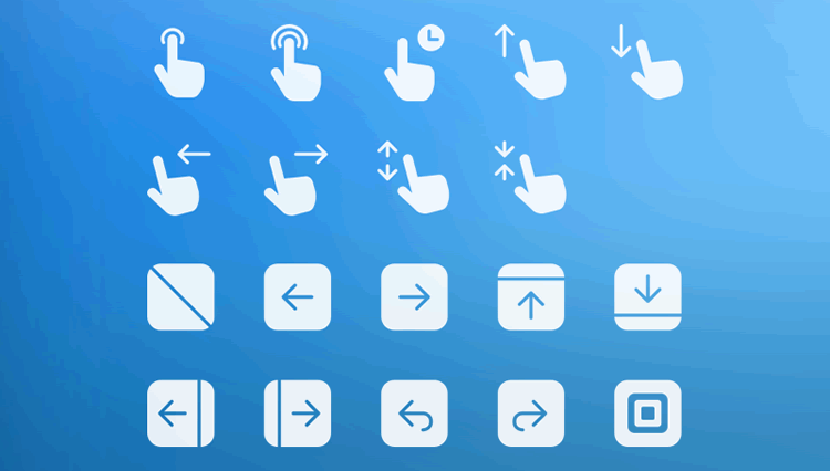Gesture & Transition Icons mobile app development designer