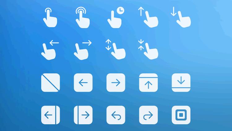 Gesture & Transition Icons mobile app development designer