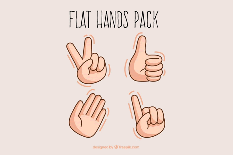 Flat Hands Illustration Vector mobile app development designer