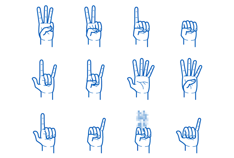 Hand Gesture Pack mobile app development designer