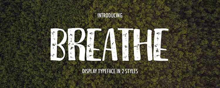 free handwritten Breathe Font Family