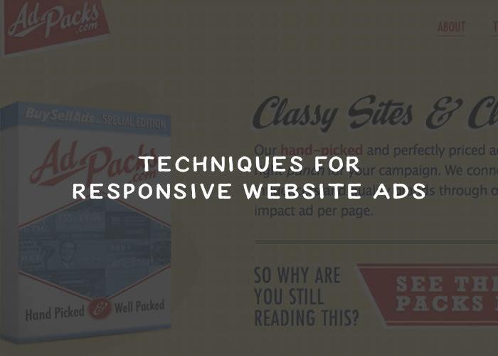 Techniques for Responsive Website Advertisements