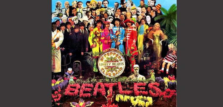 Sgt Peppers Lonely Hearts Club Band album cover art The Beatles