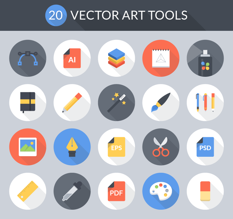 Vector Art Tools icon Set Preview screenshot