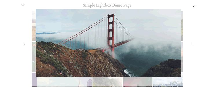 Touch friendly image lightbox mobile desktop jQuery