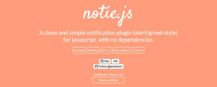 notie.js clean simple notification plugin javascript