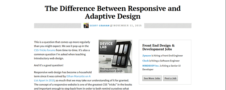 The Difference Between Responsive and Adaptive Design