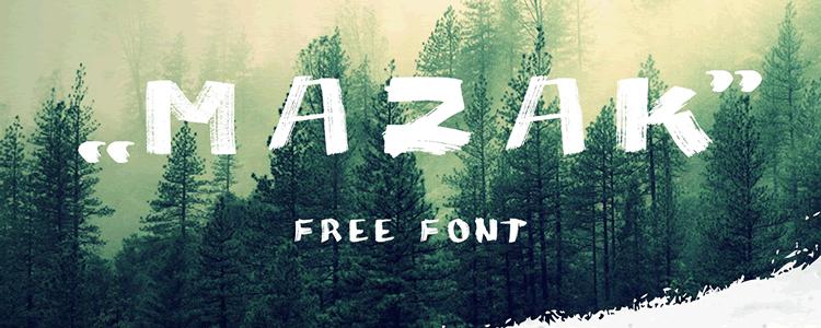 Mazak Font free