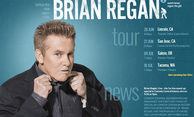brian regan comedian website homepage