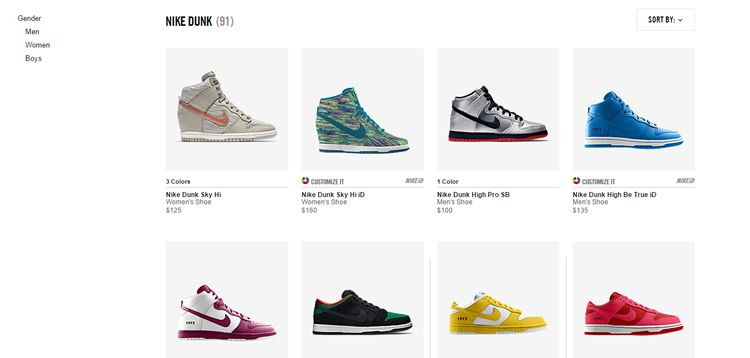 nike sb dunk ecommerce product photos