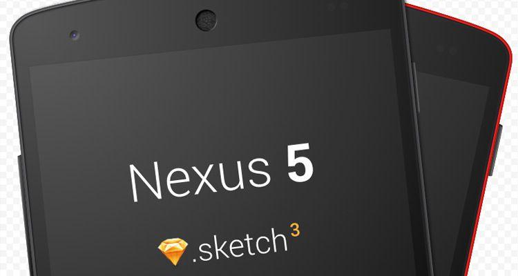 nexus5 sketch mockup