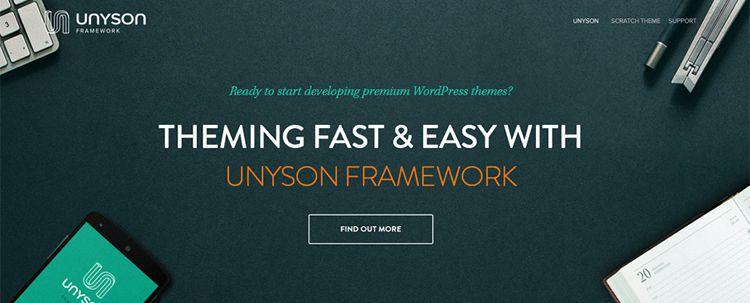 unyson free wordpress framework