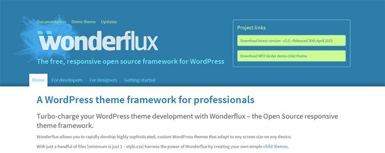 wonderflux free wordpress framework