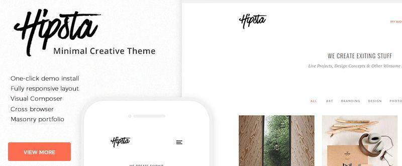 Hipsta Minimal Creative WP Theme