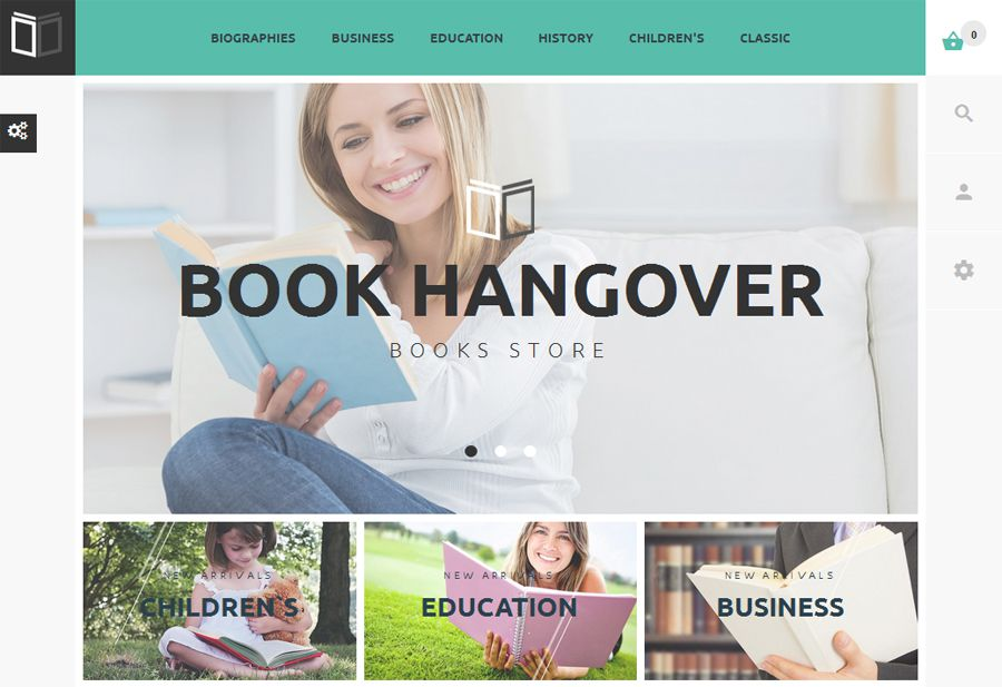 Book Hangover free PrestaShop Theme