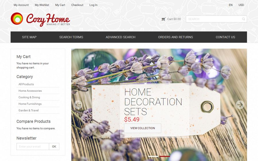 CozyHome Free OpenCart Template