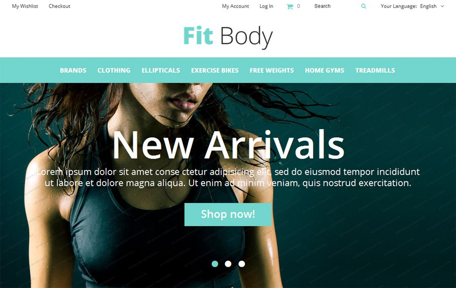 Fit Body Free OpenCart Template