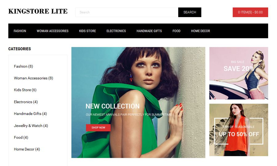 20 Free Themes Templates For Creating Ecommerce Stores