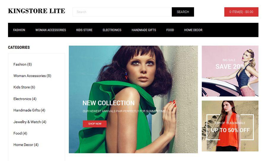 KingStore Lite Free OpenCart Template