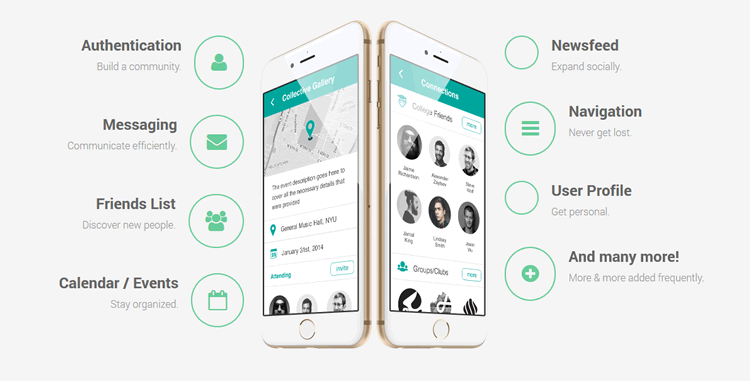 Lithium Mobile UI Kit 12 Screens PSD Format Michael Novikov