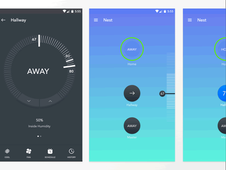 Nest Material Design App Kit 3 Screens Sketch Format JoJo Marion