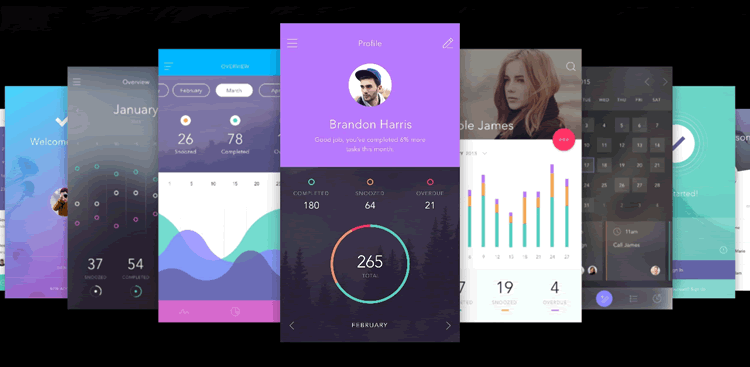 To-Do Mobile App UI Kit 130 Screens PSD Sketch Format InVision