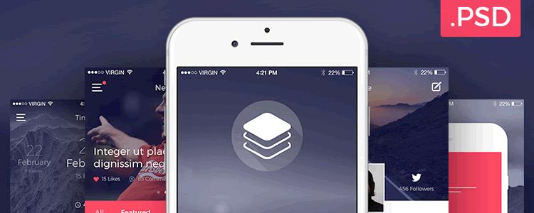 Clean Modern iOS UI Kit
