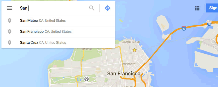 Google Maps UI Kit