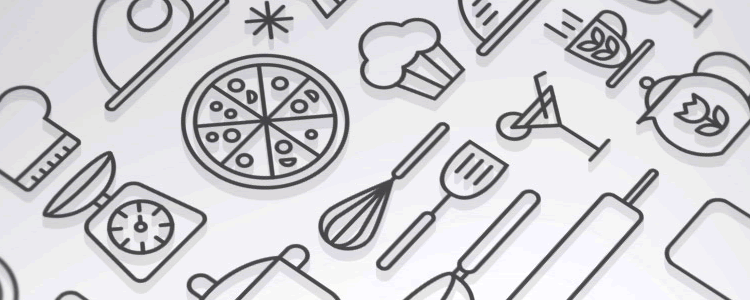 Kitchen Cooking Outline Icon Set