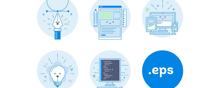 Designer Developer Icons Set