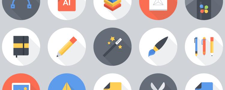 Flat Vector Art Tools Icon Set