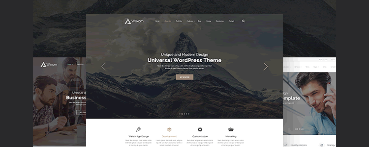 Waxom Homepage Template